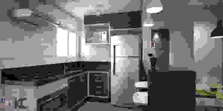 Modern kitchen by KC ARQUITETURA urbanismo e design Modern