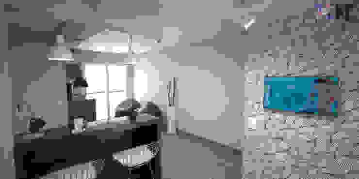 Apartamento VA Salas de jantar modernas por KC ARQUITETURA urbanismo e design Moderno
