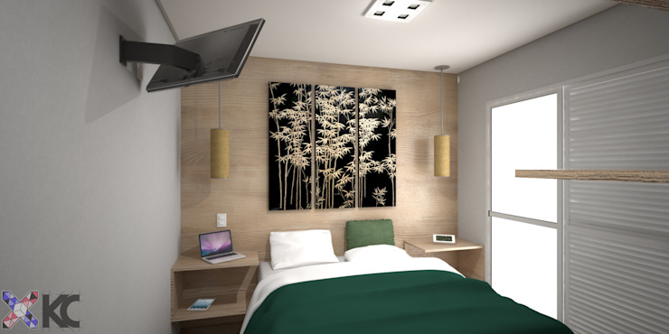 Modern style bedroom by KC ARQUITETURA urbanismo e design Modern