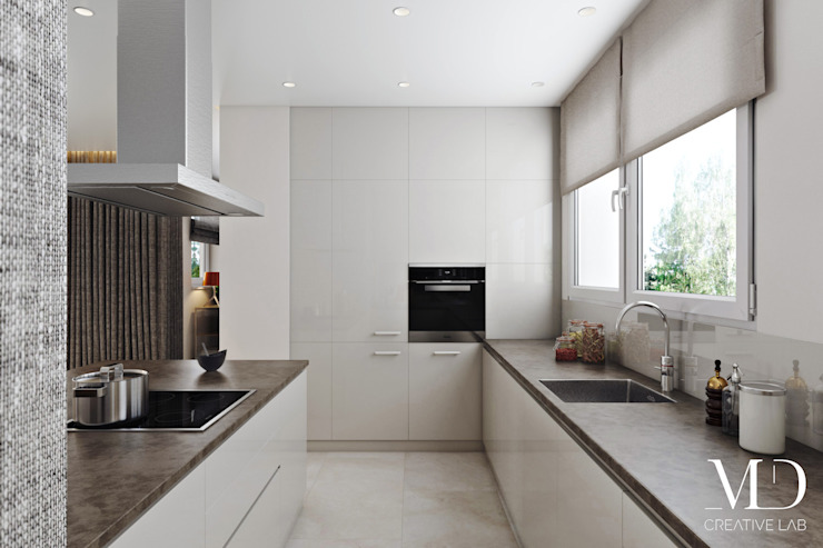 Modern kitchen by MD Creative Lab - Architettura & Design Modern Quartz