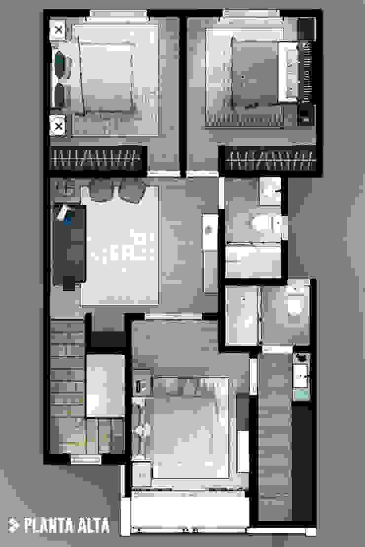 Planta Alta Dormitorios modernos de CDR CONSTRUCTORA Moderno