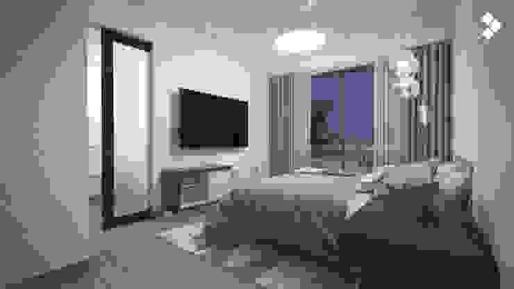 Recámara principal Dormitorios modernos de CDR CONSTRUCTORA Moderno