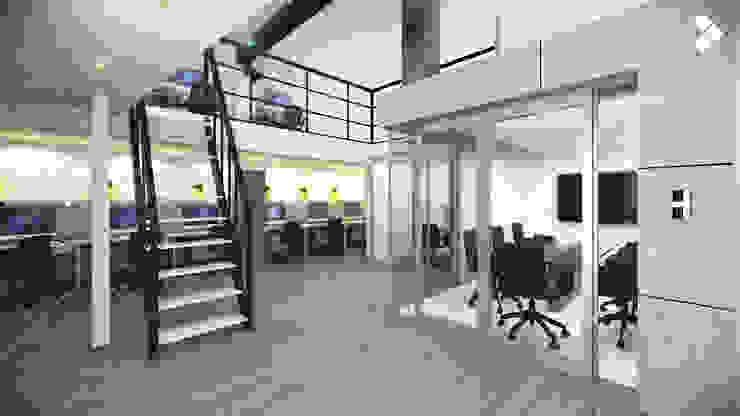 Sala de juntas y mezzanine Estudios y despachos minimalistas de CDR CONSTRUCTORA Minimalista
