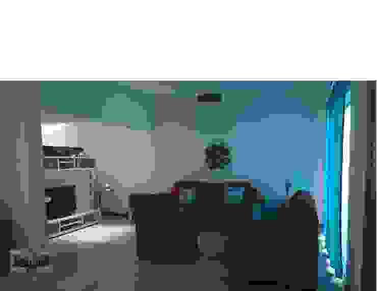 Residencia <q>RM-07</q> Salones modernos de [GM+] Arquitectos Moderno