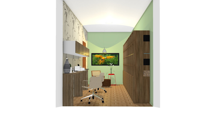 Home Office Capelari Escritórios modernos por Bruna Renzano Moderno