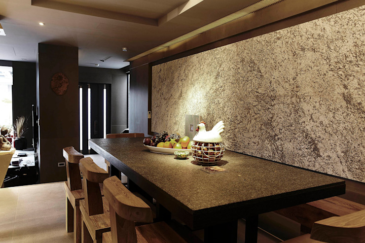 Asian style dining room by 戎馬整合設計 Asian