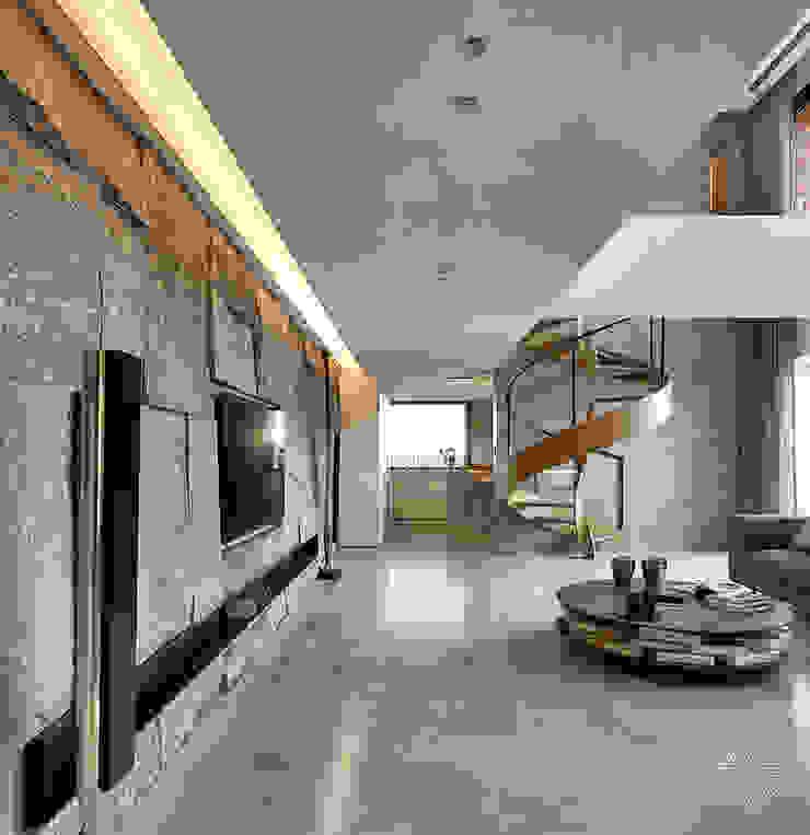 源自原本 Essence Modern Living Room by 源原設計 YYDG INTERIOR DESIGN Modern