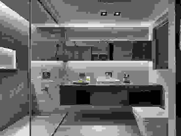 源自原本 Essence 現代浴室設計點子、靈感&圖片 根據 源原設計 YYDG INTERIOR DESIGN 現代風