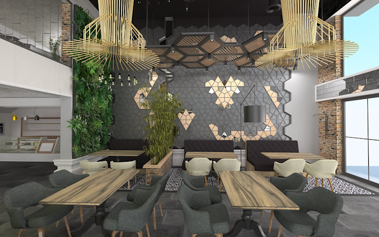 Murat Aksel Architecture Interior landscaping Wood Grey