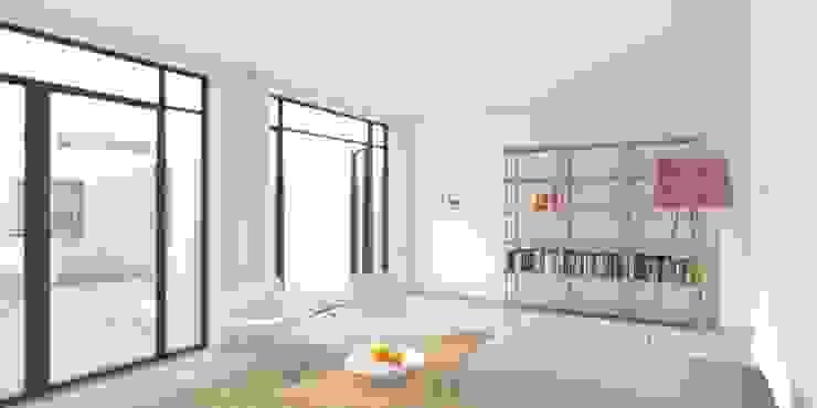 zitkamer Moderne woonkamers van De Nieuwe Context Modern IJzer / Staal