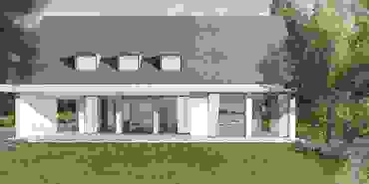 Achtergevel met uitbouw Moderne huizen van De Nieuwe Context Modern Glas