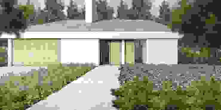 Voorgevel villa Moderne huizen van De Nieuwe Context Modern Hout Hout