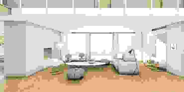 Zitkamer Moderne woonkamers van De Nieuwe Context Modern Marmer