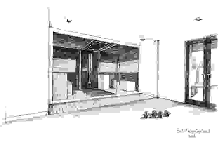 Handgetekende 3D impressie Moderne spa's van Bob Romijnders Architectuur + Interieur Modern