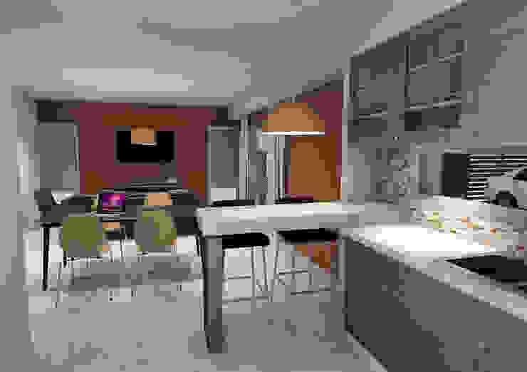 Cocina/Comedor de Prece Arquitectura