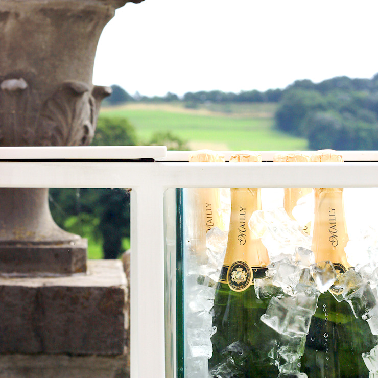 Champagnebar Château Neercanne Moderne gastronomie van De Nieuwe Context Modern Metaal