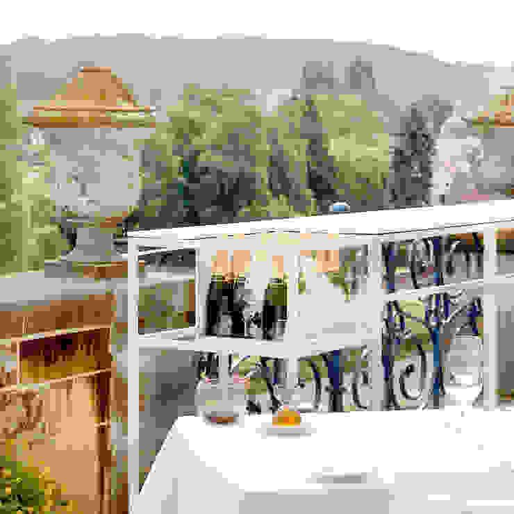 Champagnebar Château Neercanne Moderne gastronomie van De Nieuwe Context Modern Glas