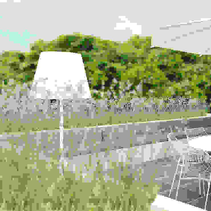 Dakterras Moderne balkons, veranda's en terrassen van De Nieuwe Context Modern Beton