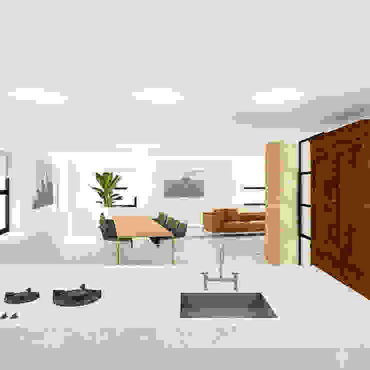 Keuken Moderne keukens van De Nieuwe Context Modern Marmer