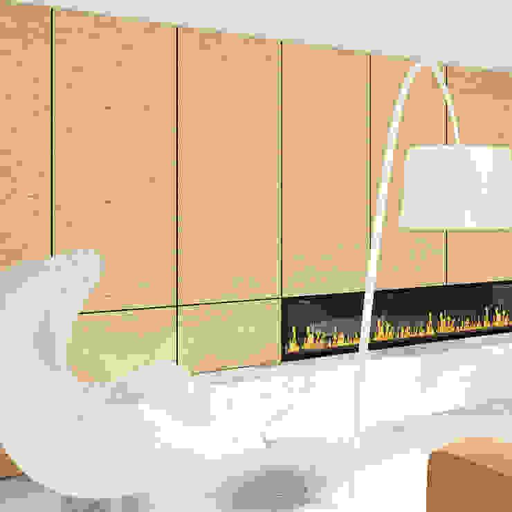 Zithoek Moderne woonkamers van De Nieuwe Context Modern Hout Hout