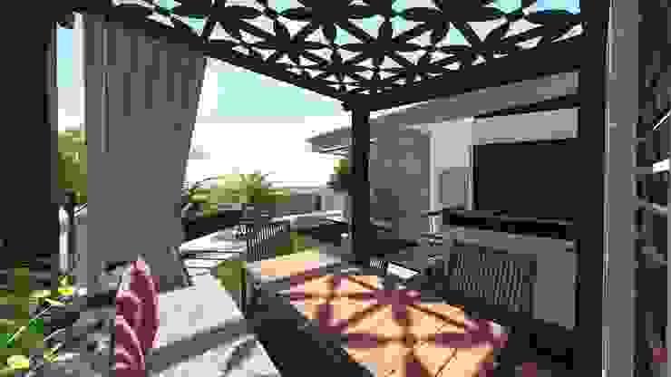 Moderne balkons, veranda's en terrassen van homify Modern