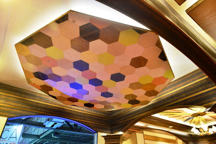 Honey comb Ceiling: colonial  by MARIA DECOR,Colonial