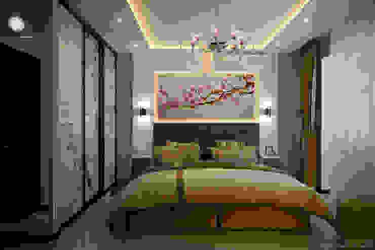 Дизайн спальни в ЖК по ул. Казбекская Спальня в стиле модерн от Студия интерьерного дизайна happy.design Модерн