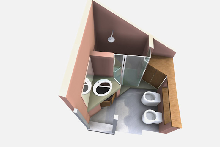 Bagno sottotetto Bagno moderno di Fabio Ricchezza architetto Moderno