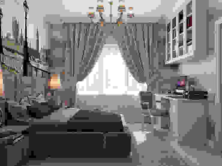 """Спальня """"London"""" Спальня в эклектичном стиле от Студия дизайна Дарьи Одарюк Эклектичный"""