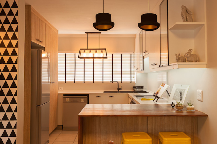 House B - House Design :  Kitchen by Redesign Interiors,