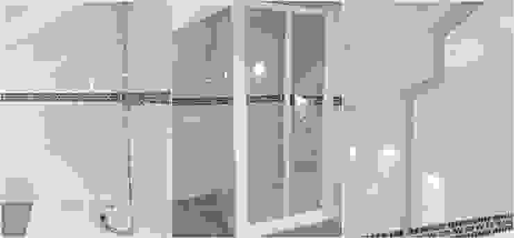 Compasso em vidro temperado liso e perfil de alumínio lacado branco por Euroduches Lda. Moderno Vidro