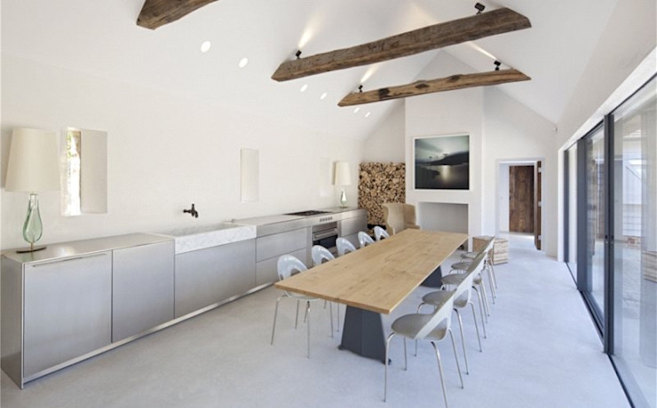 Stones Farm Kitchen My-Studio Ltd Country style kitchen Concrete Grey
