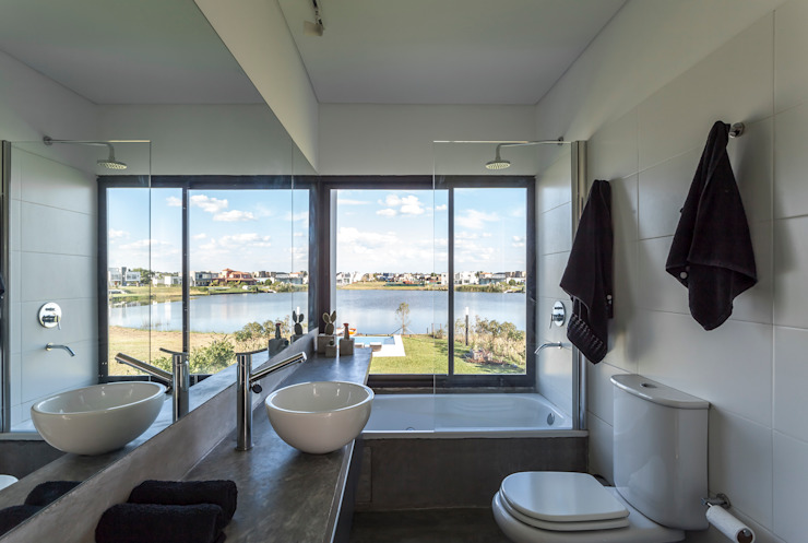 Modern Bathroom by Besonías Almeida arquitectos Modern Concrete