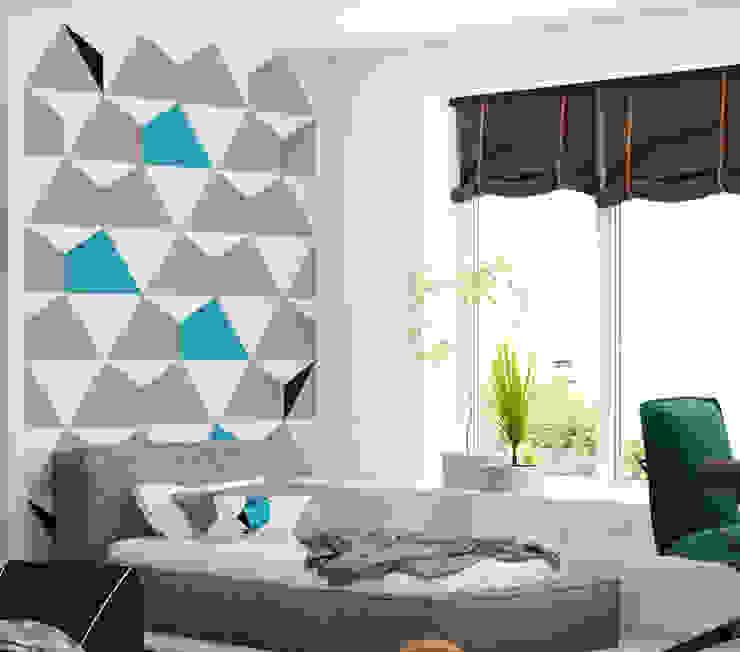 Wallpaper Triangulars Humpty Dumpty Room Decoration Walls & flooringWallpaper Grey