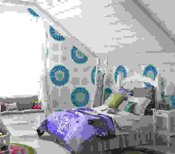 WallPaper Blue Flowers Humpty Dumpty Room Decoration Nursery/kid's room