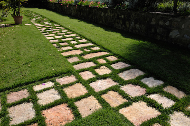 Jardines de estilo rústico de Arte Pietra Rústico Piedra