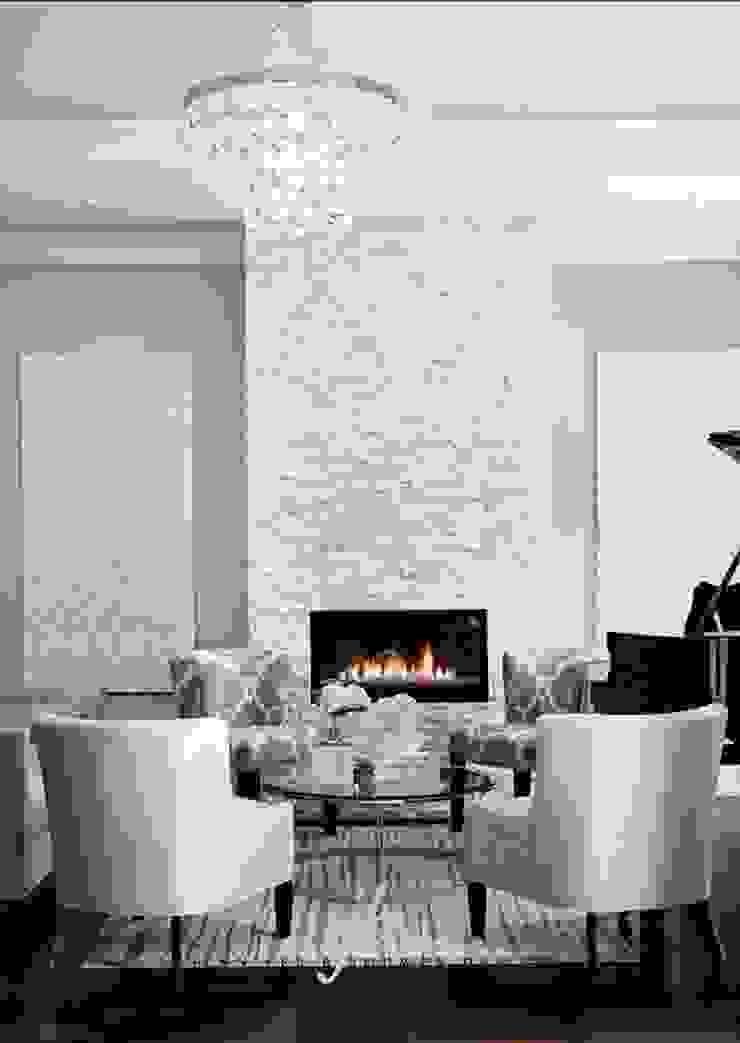 Doğal Taş İç Cephe Uygulamaları Modern Duvar & Zemin Markatas Modern Taş
