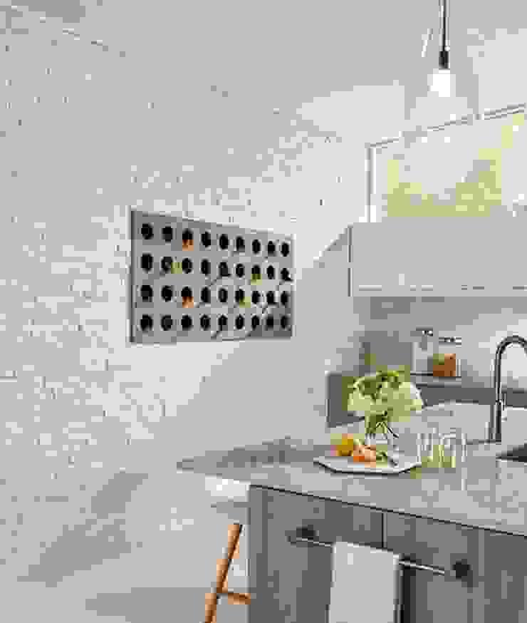 Doğal Taş İç Cephe Uygulamaları Modern Mutfak Markatas Modern Taş
