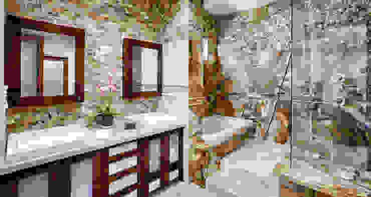 Doğal Taş İç Cephe Uygulamaları Modern Banyo Markatas Modern Taş