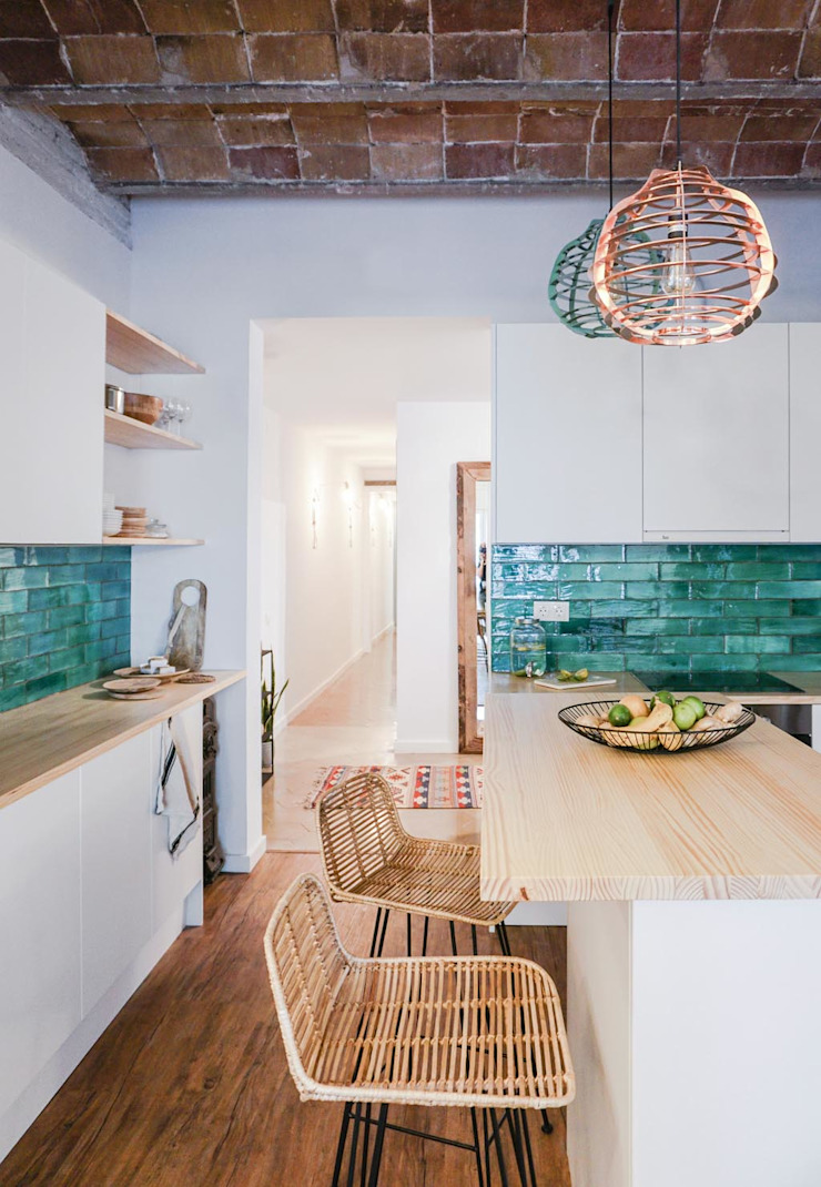 Bloomint design Kitchen Tiles Turquoise