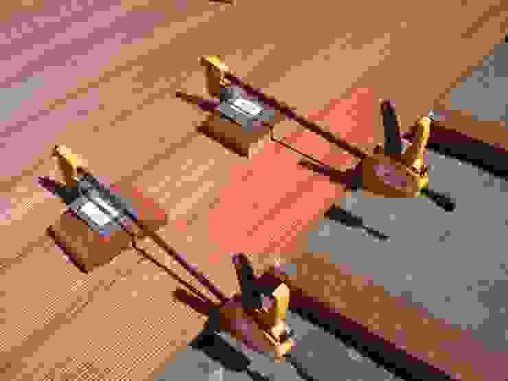 Fabio Ricchezza architetto Modern Terrace Solid Wood