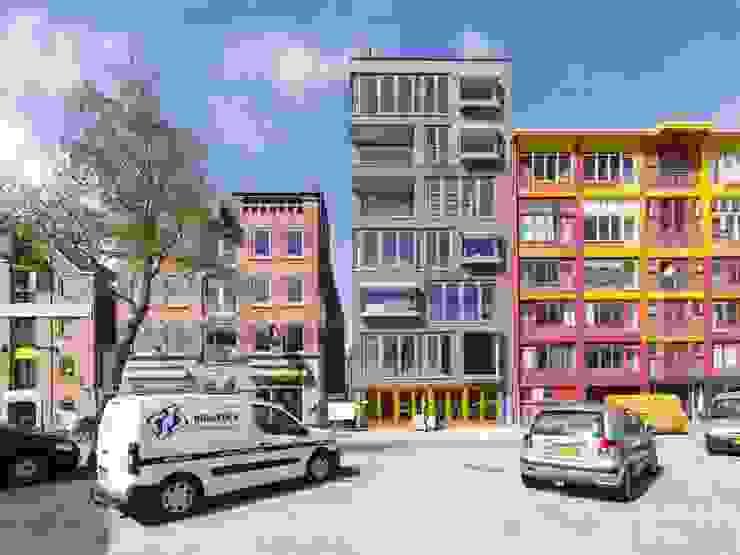Nieuwbouw appartementen Moderne gangen, hallen & trappenhuizen van MSW Bouwadvies Modern