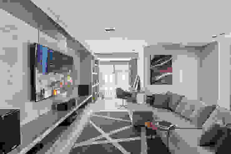 Estar Íntimo Salas de estar modernas por Studio Leonardo Muller Moderno