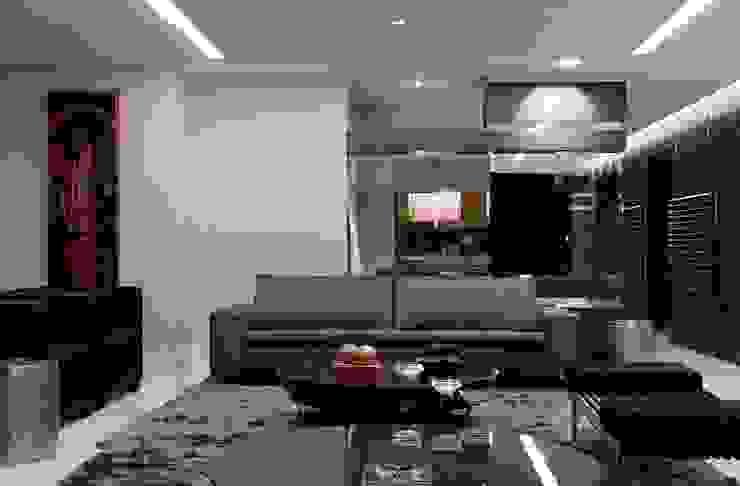 Living Studio Leonardo Muller Salas de estar modernas Preto
