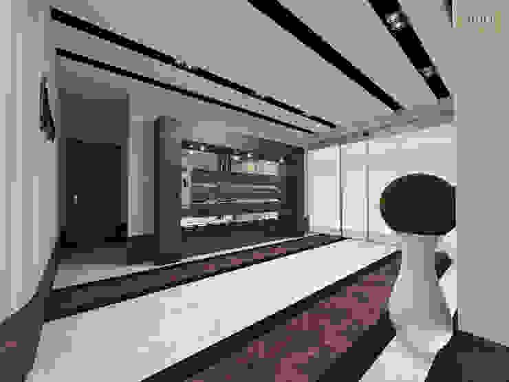Couloir, entrée, escaliers modernes par nihle iç mimarlık Moderne Céramique