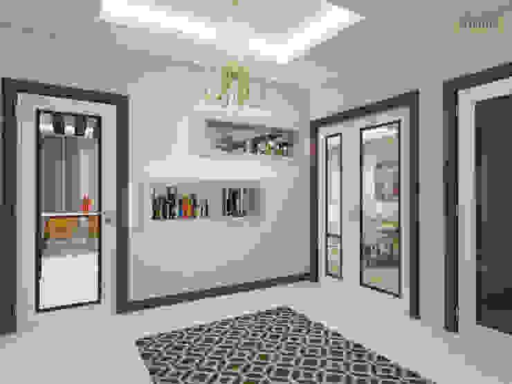 Nowoczesny korytarz, przedpokój i schody od nihle iç mimarlık Nowoczesny