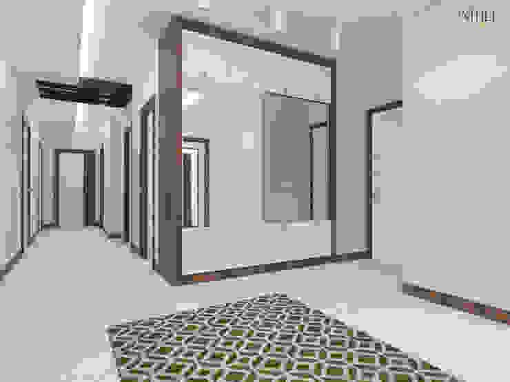 Modern Corridor, Hallway and Staircase by nihle iç mimarlık Modern