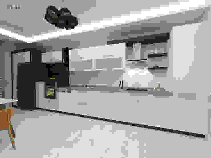 Cuisine moderne par nihle iç mimarlık Moderne