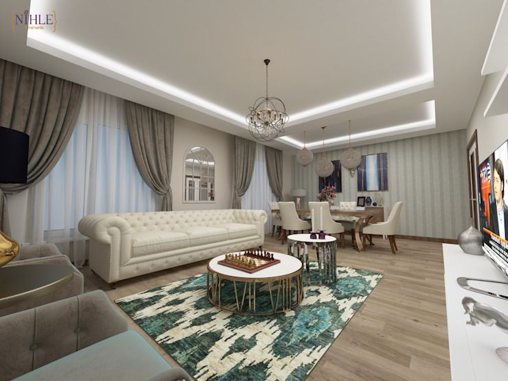 Salon moderne par nihle iç mimarlık Moderne