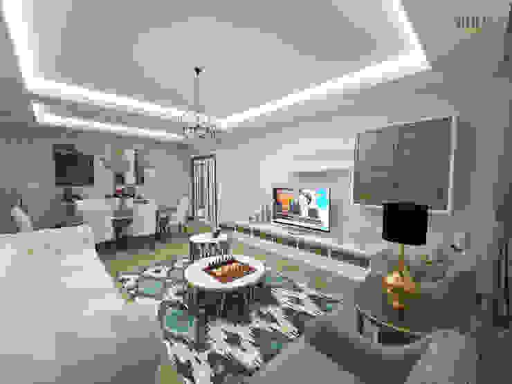 Living room by nihle iç mimarlık, Modern